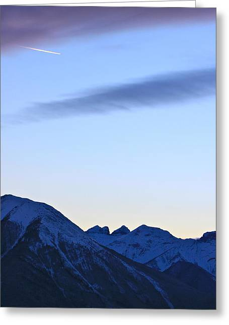 Banff Greeting Cards - Is it a bird or a plane Greeting Card by Jordan  Drapeau