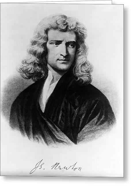 Analyze Greeting Cards - Isaac Newton, English Polymath Greeting Card by Omikron