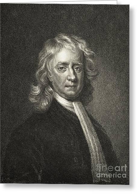 Isaac Newton Greeting Cards - Isaac Newton, English Polymath Greeting Card by Science Source