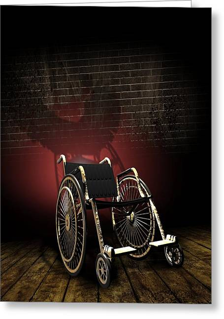 Sociology Greeting Cards - Isolation Through Disability, Artwork Greeting Card by Victor Habbick Visions