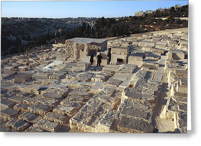 Close To People Greeting Cards - Israel, Jerusalem Mount Of Olives Greeting Card by Keenpress