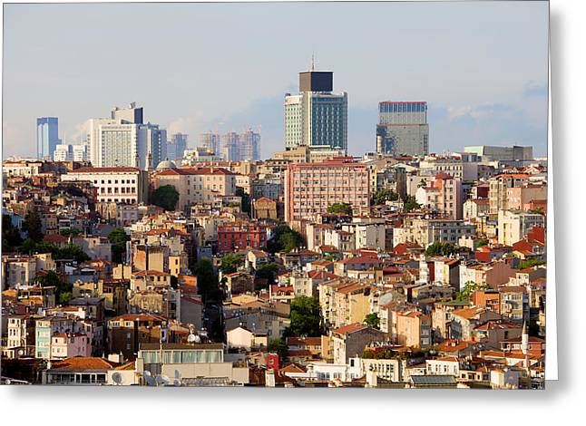 Stanbul Greeting Cards - Istanbul Cityscape Greeting Card by Artur Bogacki