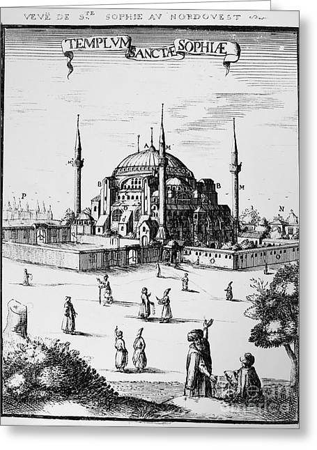 Istanbul: Hagia Sophia Greeting Card by Granger