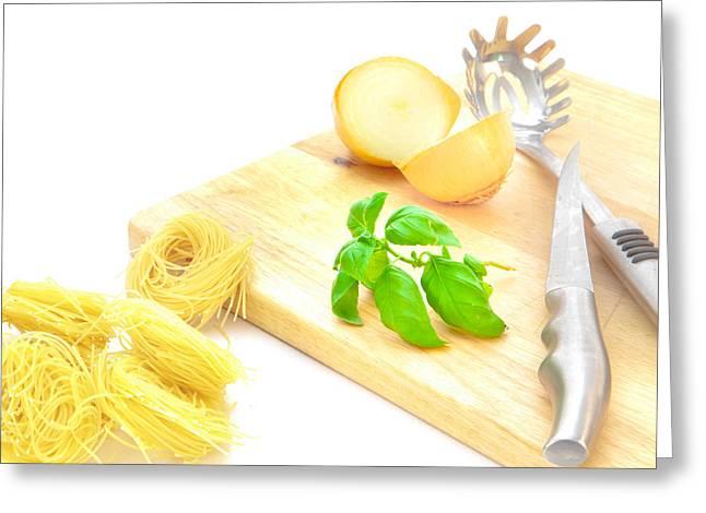 Italian food Greeting Card by Tom Gowanlock