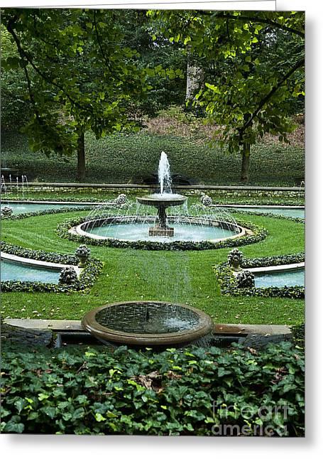 Water Garden Greeting Cards - Italian Water Garden Greeting Card by John Greim