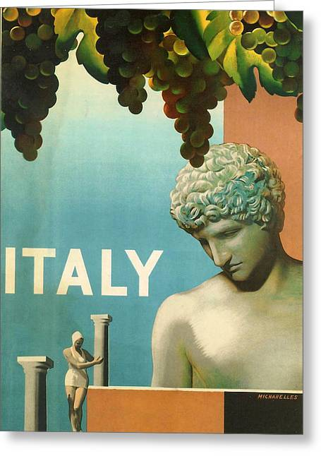 Grape Vineyard Digital Greeting Cards - Italy Greeting Card by Nomad Art And  Design