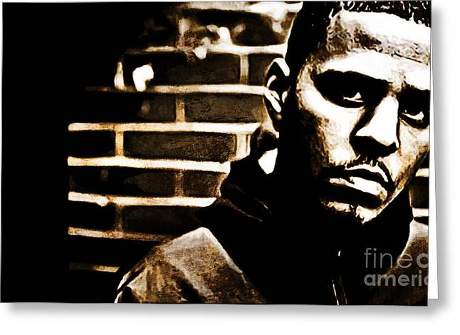 J Cole Greeting Card by The DigArtisT