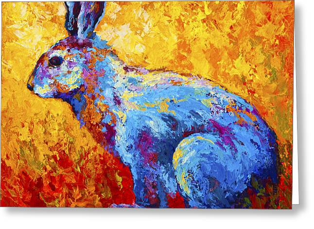 Bunnies Greeting Cards - Jackrabbit Greeting Card by Marion Rose