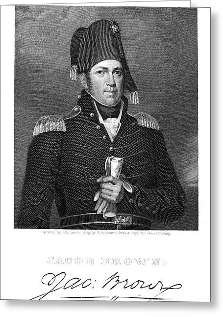 U.s Army Greeting Cards - Jacob Jennings Brown Greeting Card by Granger