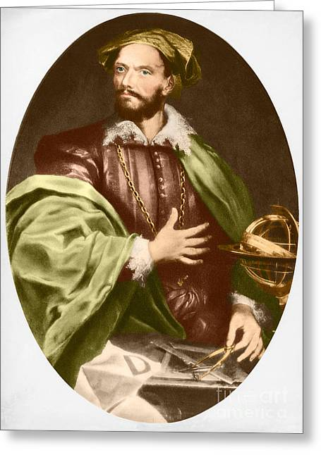 People Greeting Cards - Jacques Cartier, French Explorer Greeting Card by Photo Researchers, Inc.