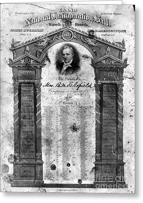 Texting Greeting Cards - James Buchanan, 1857 Greeting Card by Granger
