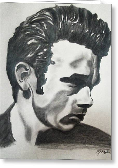 James Dean Prints Drawings Greeting Cards - James Dean Greeting Card by Mikayla Henderson