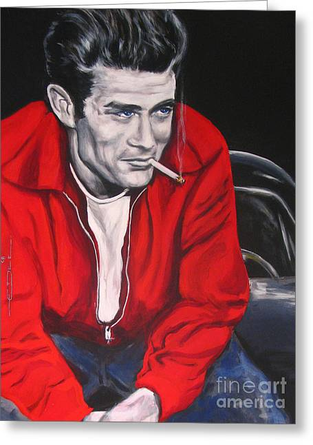 James Dean Greeting Cards - James Dean Put His Picture in a Picture Show Greeting Card by Eric Dee