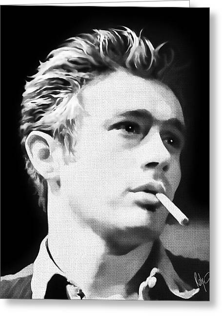 Actors Pastels Greeting Cards - James Dean Greeting Card by Roly Orihuela