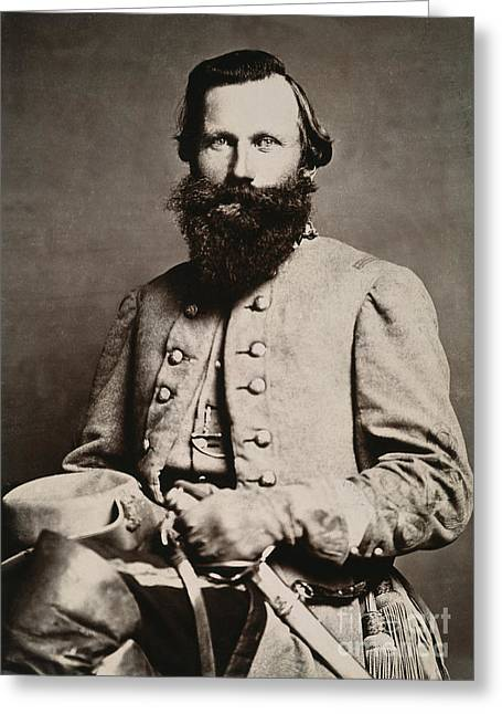 19th Century America Photographs Greeting Cards - James E. B. Jeb Stuart Greeting Card by Granger