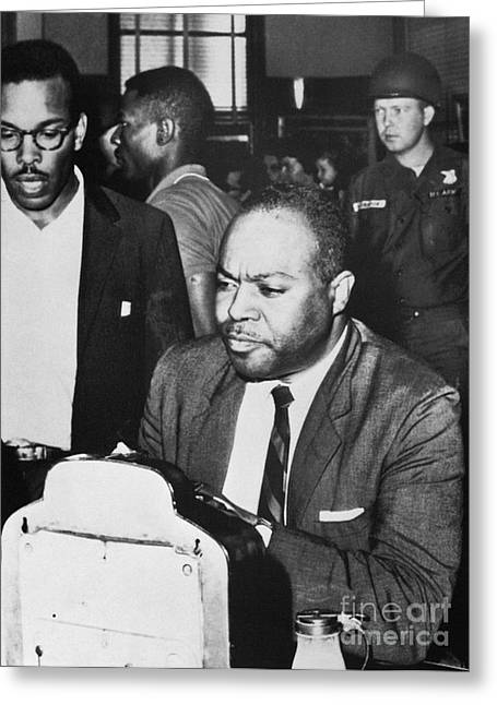 Discrimination Photographs Greeting Cards - James Farmer (1920-1999) Greeting Card by Granger