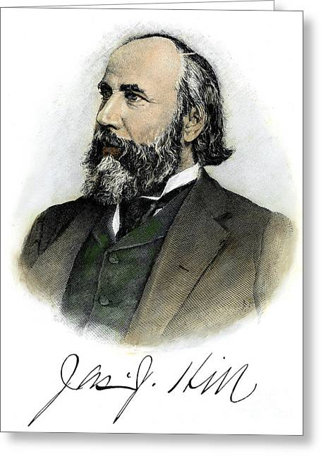 Autograph Greeting Cards - James Jerome Hill Greeting Card by Granger