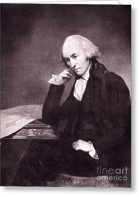 Mechanical Revolution Greeting Cards - James Watt, Scottish Inventor Greeting Card by Science Source