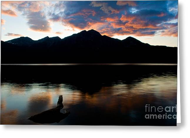 Pyramids Greeting Cards - Jasper - Pyramid Lake Sunset Greeting Card by Terry Elniski