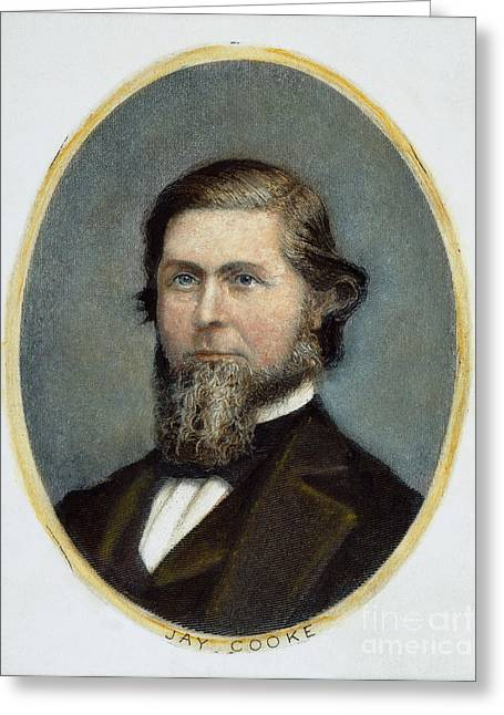 Cooke Greeting Cards - Jay Cooke (1821-1905) Greeting Card by Granger