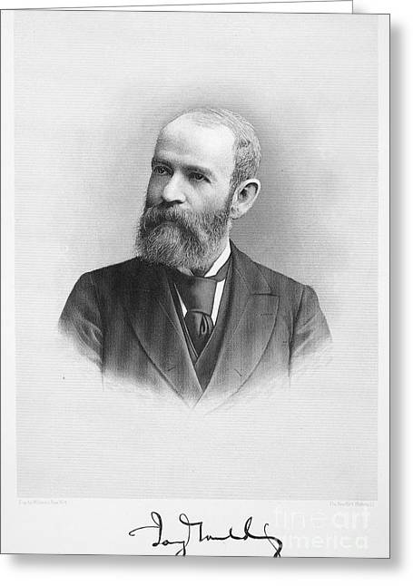 Autograph Greeting Cards - Jay Gould (1836-1892) Greeting Card by Granger