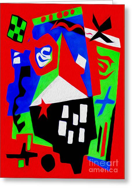 Jazz Art - 04 Greeting Card by Gregory Dyer