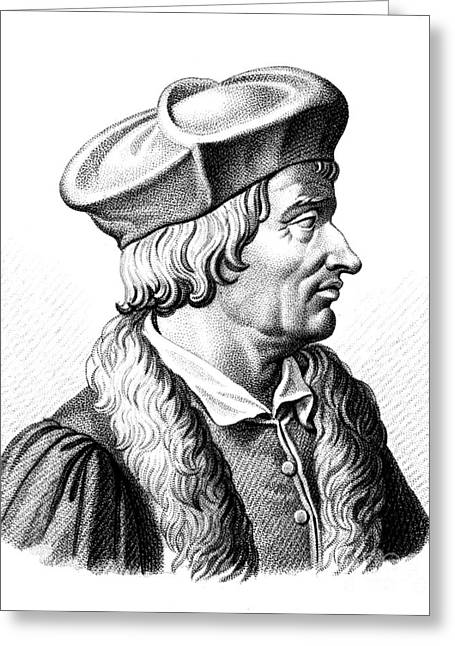 Doctor J Greeting Cards - Jean Francois Fernel, French Polymath Greeting Card by Science Source