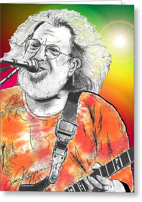 Jerry Garcia Band Greeting Cards - Jerry Garcia Greeting Card by Jason Kasper