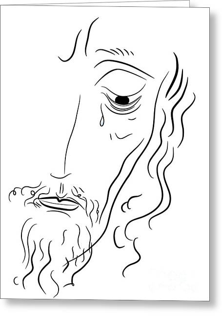 Messianic Greeting Cards - Jesus Christ Greeting Card by Michal Boubin