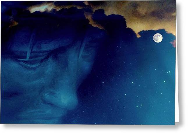 Omnipotent Greeting Cards - JESUS in the night.. Greeting Card by Al  Swasey