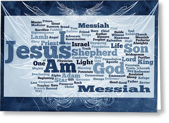 Author Mixed Media Greeting Cards - Jesus Messiah 2 Greeting Card by Angelina Vick