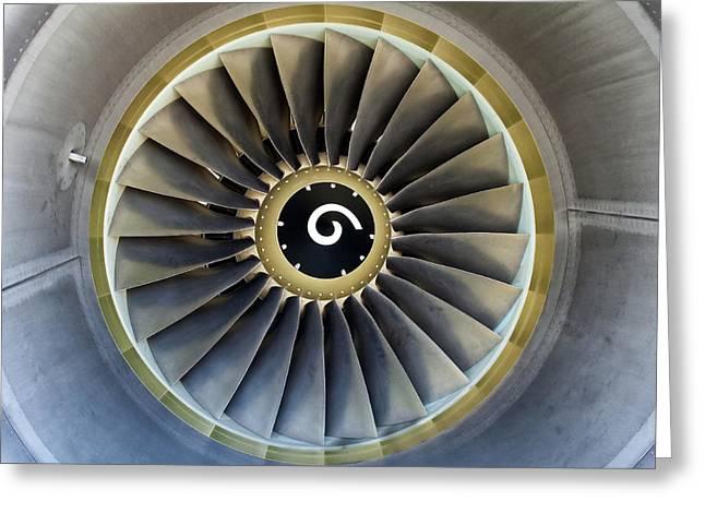Aeronautical Greeting Cards - Jet engine detail. Greeting Card by Fernando Barozza