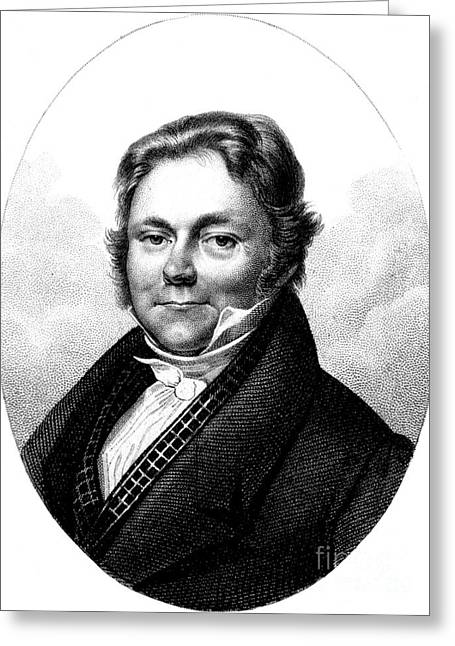 Doctor J Greeting Cards - Jöns Jacob Berzelius, Father Of Swedish Greeting Card by Science Source