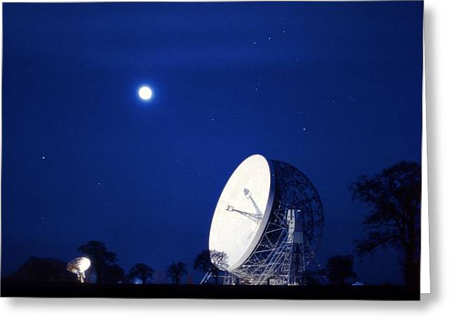Jodrell Bank Observatory Greeting Card by Richard Kail