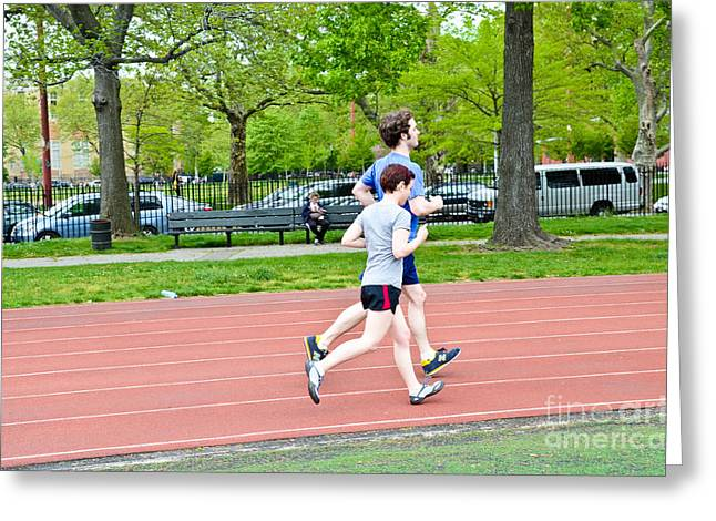 Jogging Greeting Cards - Jogging Greeting Card by Photo Researchers