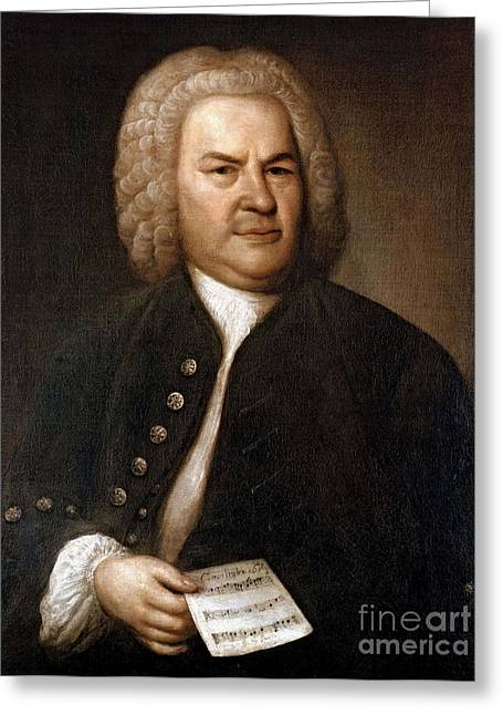 Notable Greeting Cards - Johann Sebastian Bach, German Baroque Greeting Card by Photo Researchers