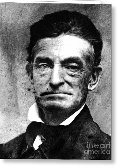 Abolition Greeting Cards - John Brown (1800-1859) Greeting Card by Granger