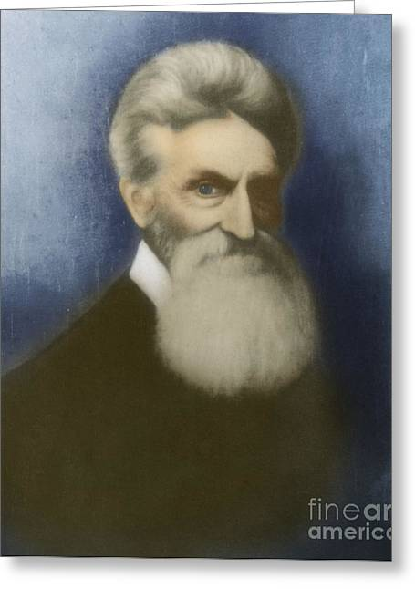 Slavery Greeting Cards - John Brown, American Abolitionist Greeting Card by Photo Researchers