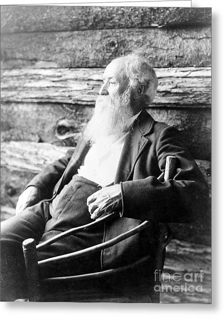 Letter J Greeting Cards - John Burroughs, American Naturalist Greeting Card by Photo Researchers