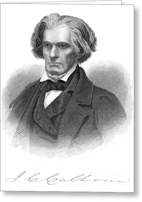 Autograph Greeting Cards - John C. Calhoun (1782-1850) Greeting Card by Granger