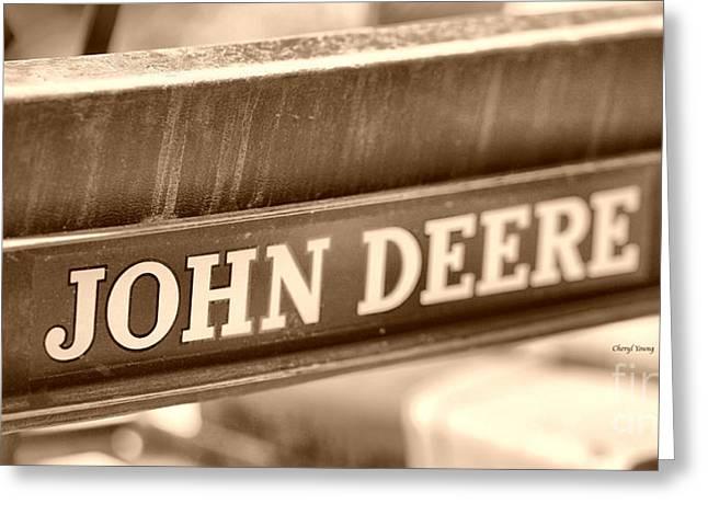 John Deere Greeting Card by Cheryl Young