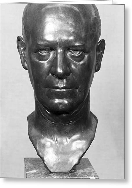 Portrait Sculpture Photograph Greeting Cards - John Galsworthy (1867-1933) Greeting Card by Granger