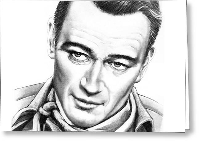 John Wayne Greeting Card by Murphy Elliott