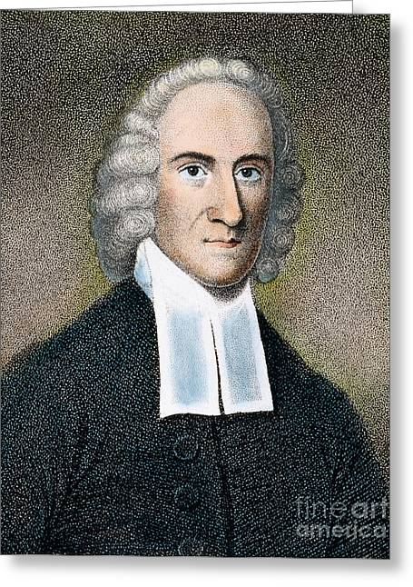 18th Century Greeting Cards - Jonathan Edwards Greeting Card by Granger