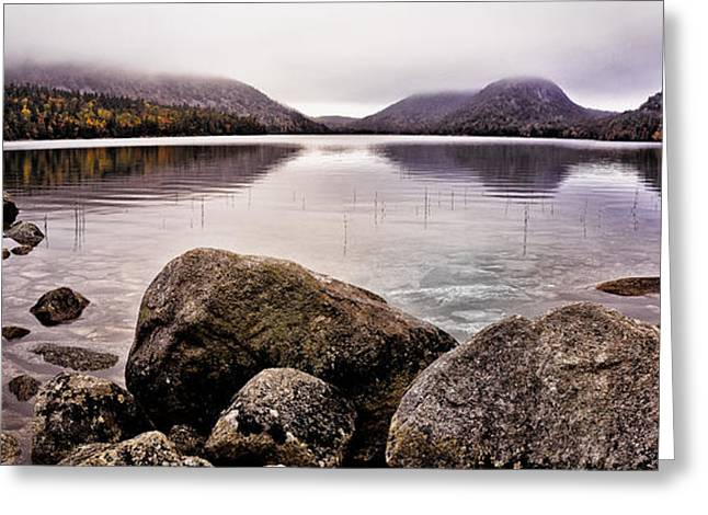 Maine Lake Greeting Cards - Jordan Pond Greeting Card by Chad Tracy