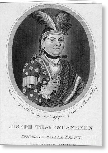 Chief Joseph Greeting Cards - Joseph Brant (1742-1807) Greeting Card by Granger