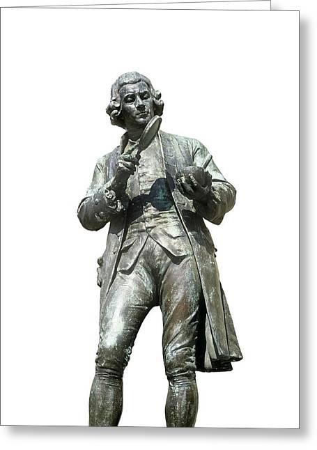 Statue Portrait Photographs Greeting Cards - Joseph Priestley, British Chemist Greeting Card by Martin Bond