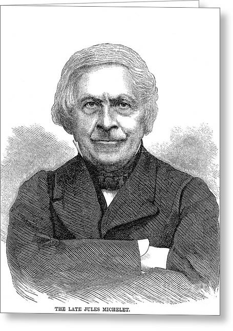 1874 Greeting Cards - Jules Michelet (1798-1874) Greeting Card by Granger