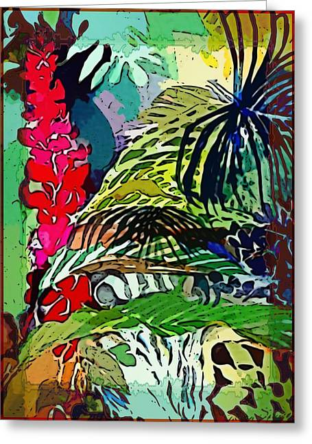 Floral Digital Art Greeting Cards - Jungle Boogie Greeting Card by Mindy Newman