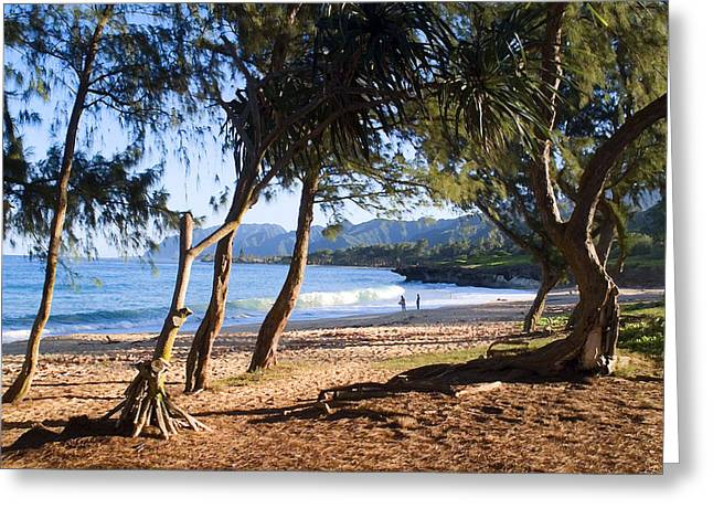 Tropical Beach Digital Art Greeting Cards - Just another Day in Paradise Greeting Card by Ron Regalado